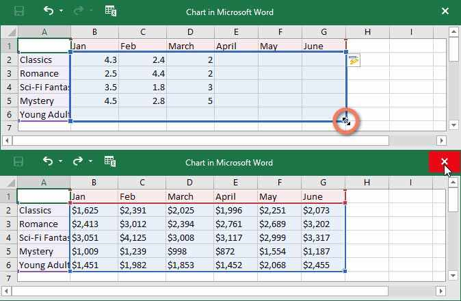 Cara memasukkan grafik di Microsoft Word