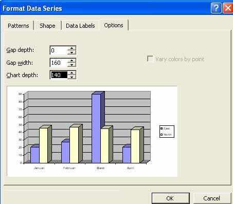Cara membuat grafik di word dengan banyak data