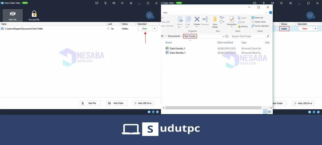 Cara mengembalikan folder menggunakan Wise Folder Hider