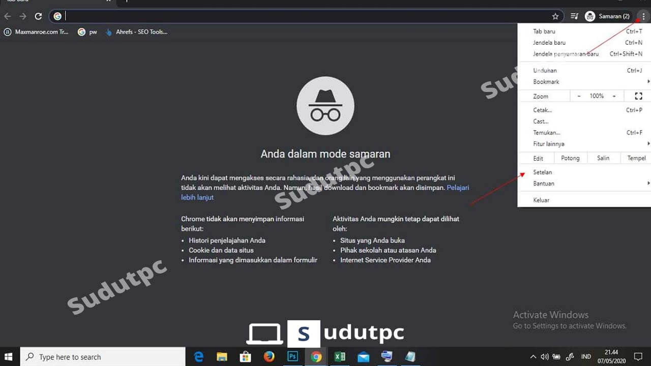 Cara menonaktifkan iklan di Google Chrome Windows 10