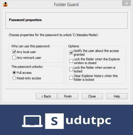 Klik finish di folder guard