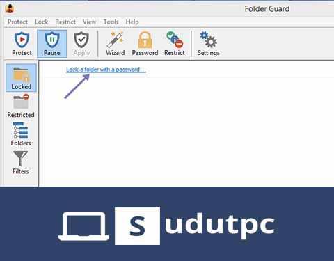 Klik lock a folder with password