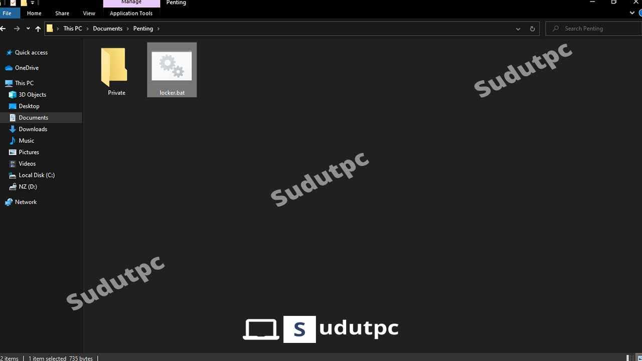 Muncul folder private