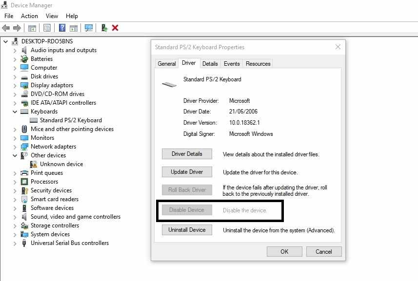 Cara mematikan keyboard laptop Windows 10