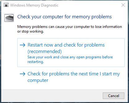 Cara mengatasi blue screen Windows 10 memory management