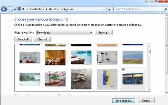 Cara mengganti wallpaper di laptop Windows 7