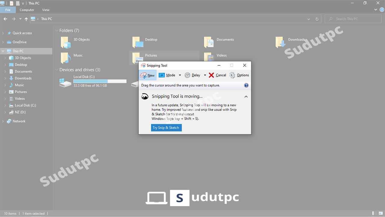 Cara screenshot laptop dengan aplikasi snipping tool