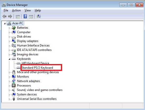 Cari keyboard device manager