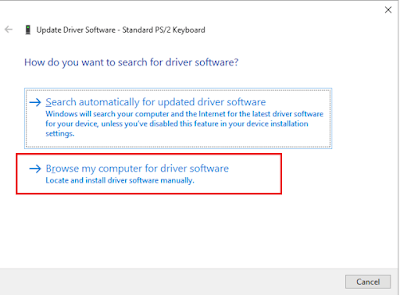Klik Browse My Computer for Driver Software