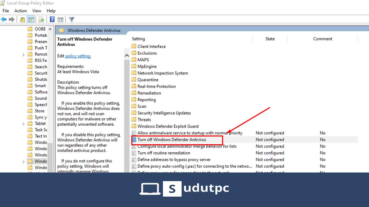 Cara mematikan Windows Defender Windows 10