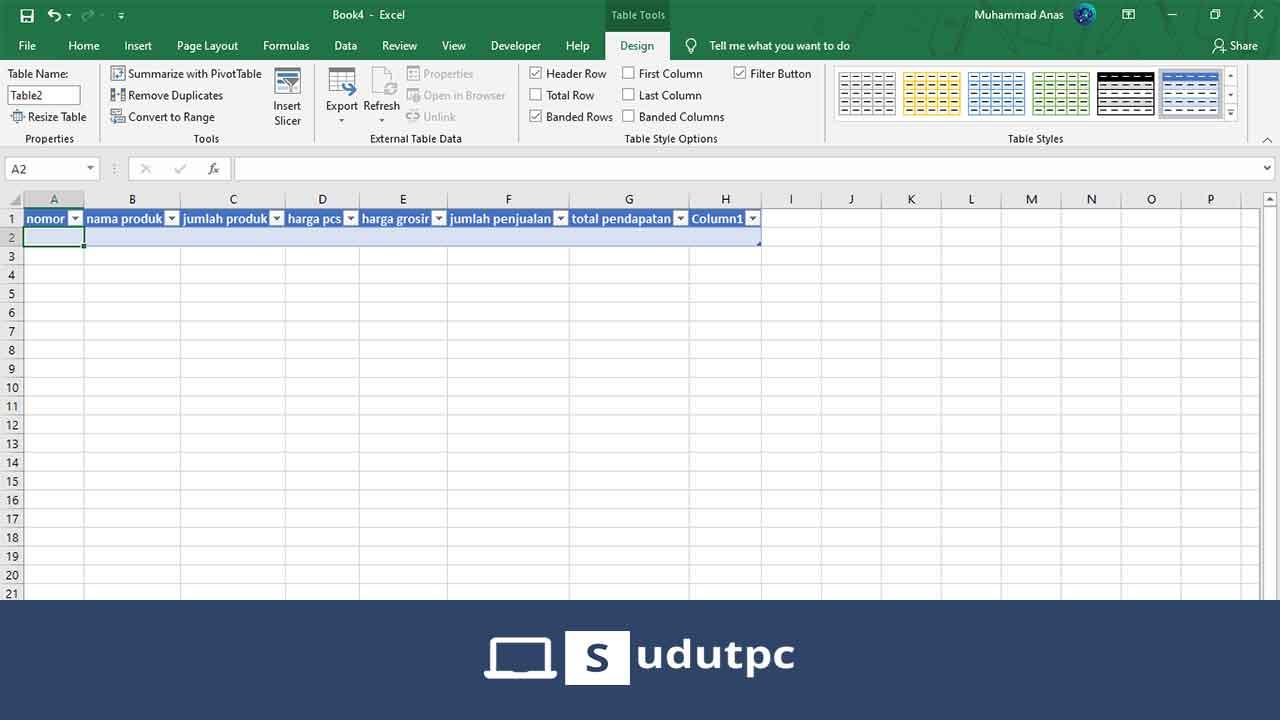 Cara membuat database di Excel otomatis