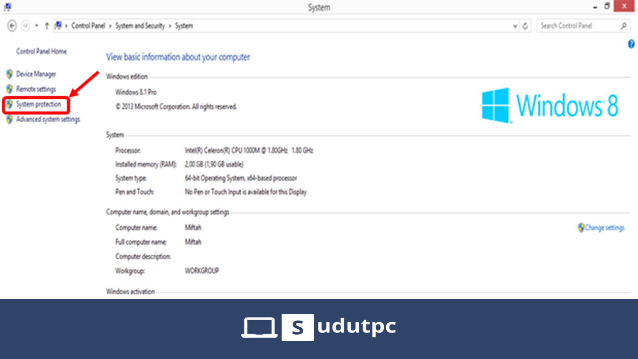 Cara membuat system restore point Windows 8