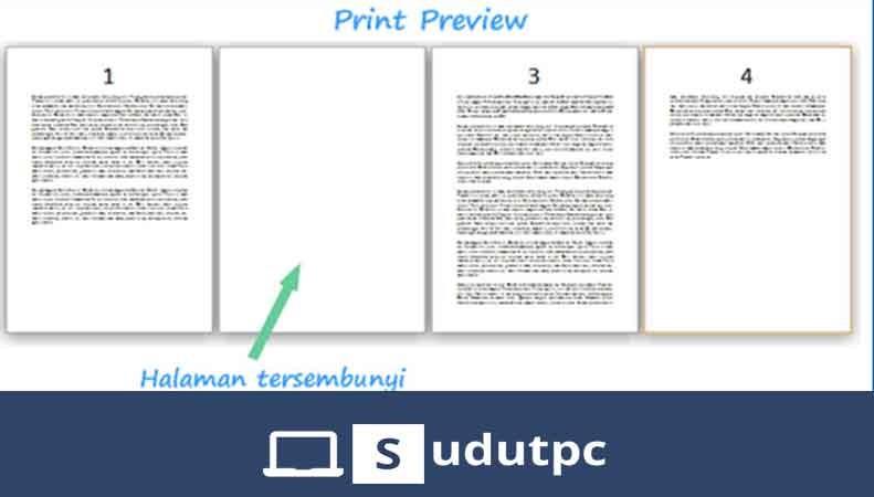 cara menghapus halaman di word yang tidak terpakai