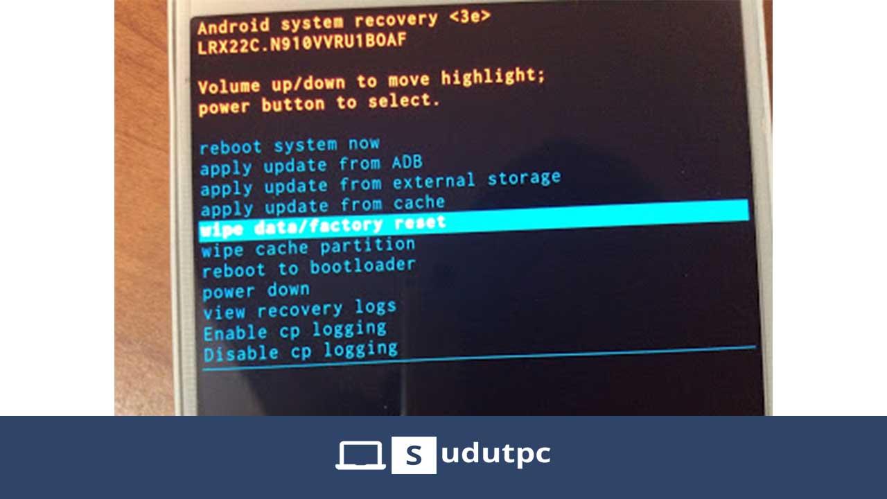 Klik Wipe Data Factory Reset