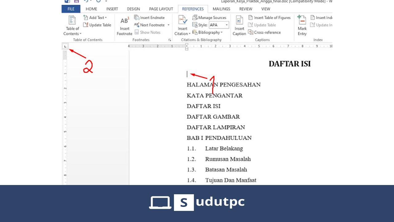 Cara Membuat Daftar Isi Otomastis Dan Manual Di Word ...