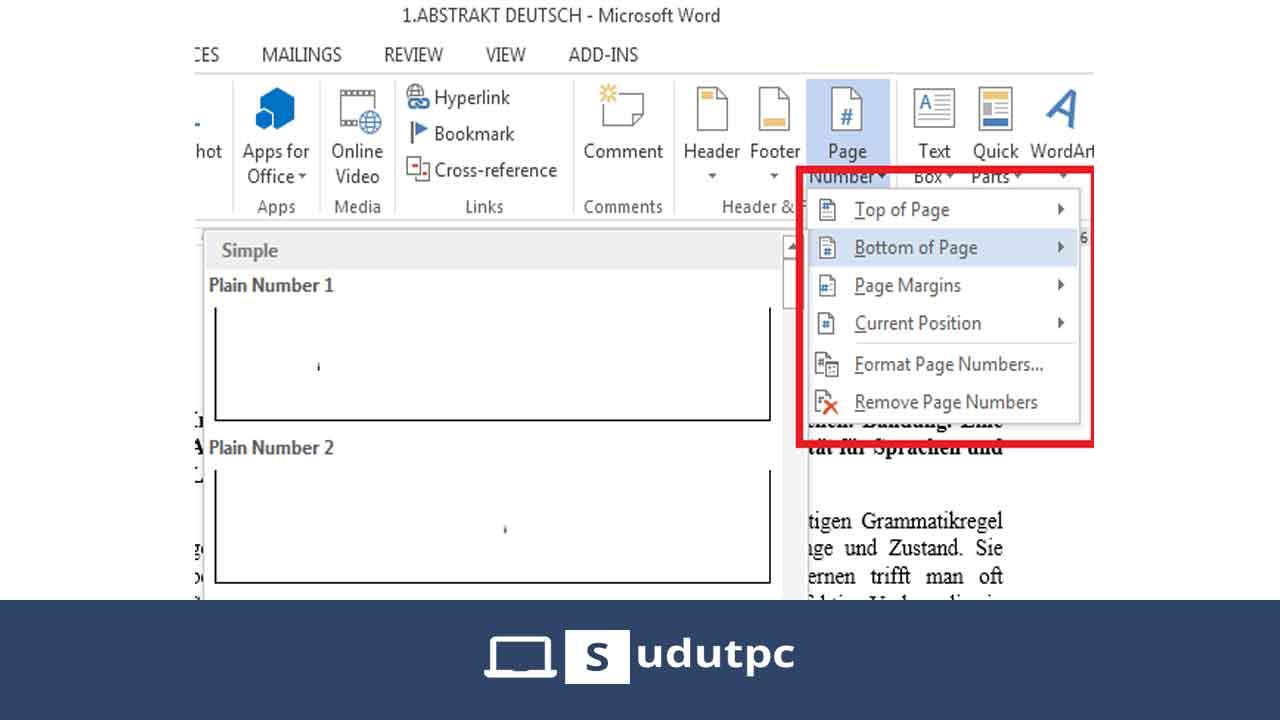 Membuat halaman di word 2007, 2010, 2013