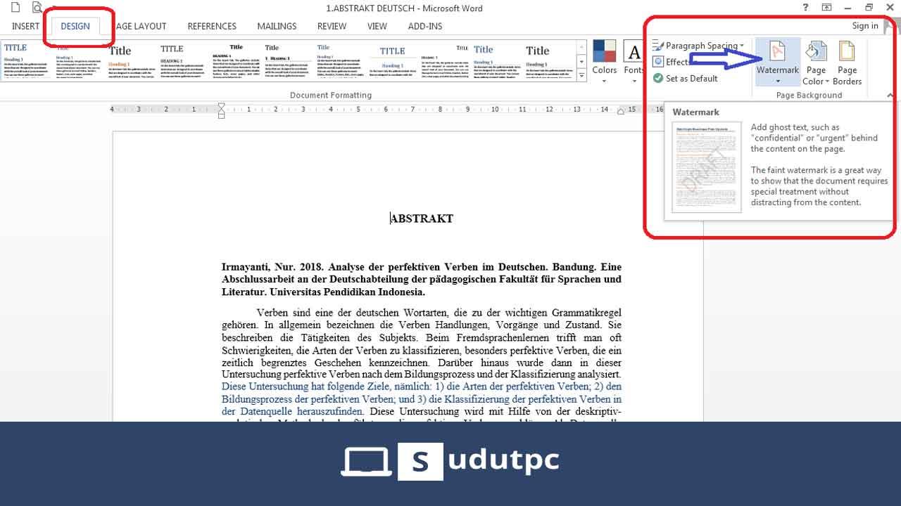 Cara membuat watermark di Word pada halaman tertentu