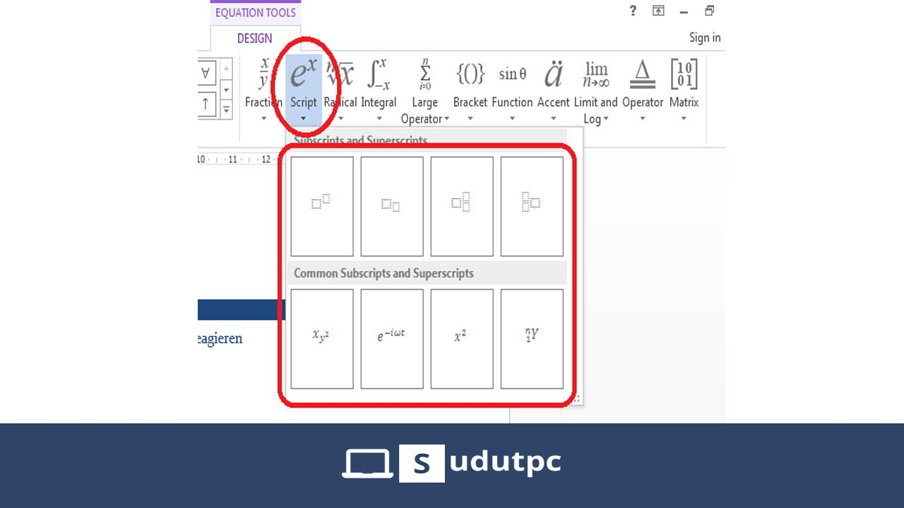 Equation tool