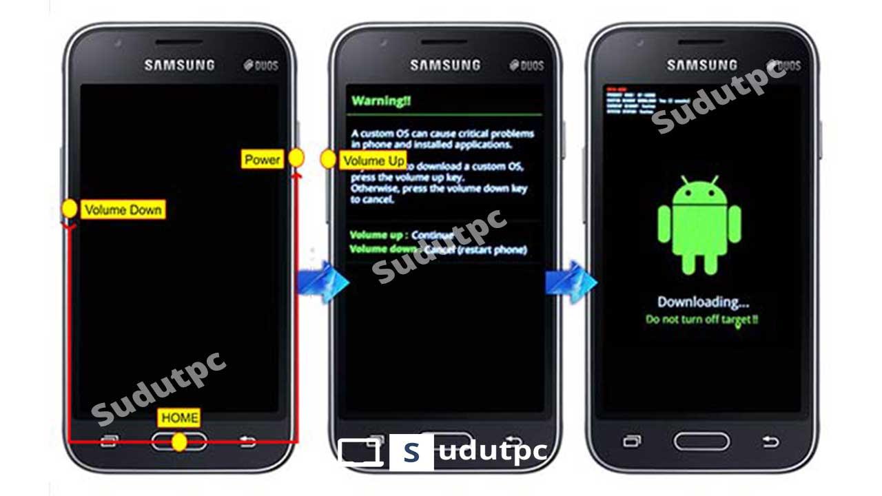 Cara Flash HP Samsung J2 Prime