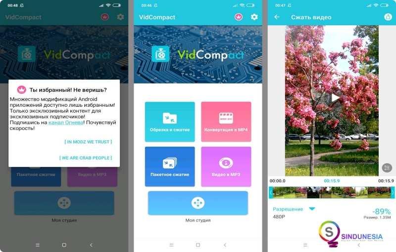 Aplikasi kompres video android - VidCompact