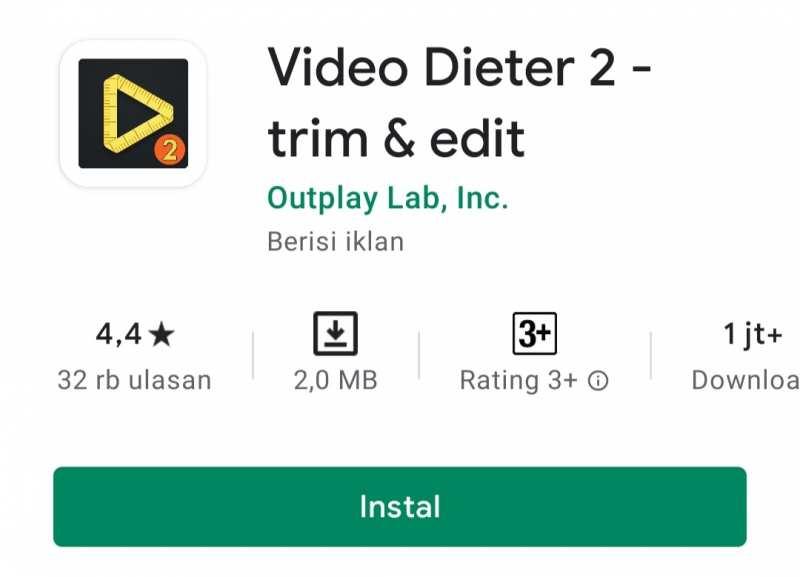 Aplikasi kompres video terbaik - Video Dieter 2